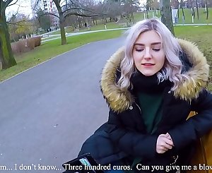 Cute teen swallows hot cum for cash - extreme public blowjob by Eva Elfie