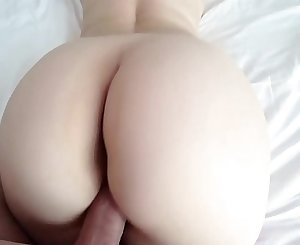 White girl with big ass in red undies and pantyhose gets fucked