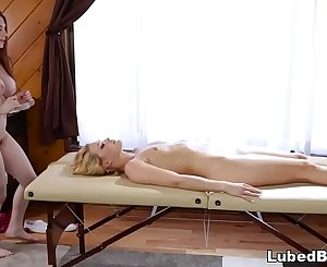 Surprise face sitting - Abby Cross and Veronica Vain