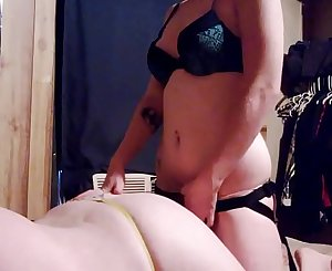 Amateur pegging real couple first time taking strapon