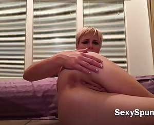 Short Haired Blonde Teen Dirty Talk Solo Masturbation