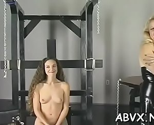 Taut pussy extreme bondage in home xxx clip