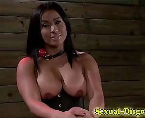 Deepthroated bdsm whore